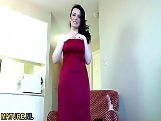 Canadian Hot Mom Fingering Herself