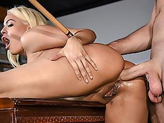 Busty Waitress Luna Star Got Fucked From Behind