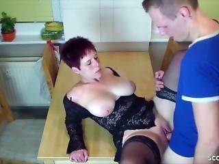 German Son Seduce New Step Mom To Fuck In Kitchen At Morning Deutsch