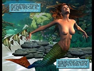 3d Comic Mermaid