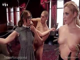 anal, bdsm, blondine, sklaverei, brünette, vollbusig, doggystyle, dominierung, rudel, sklave, studentin, unterwürfig, dreier