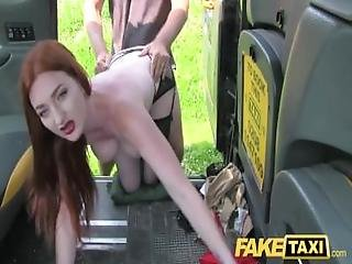 Fake Taxi Olive Skin Redhead In Lingerie