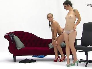 Two Bulgarian Girls Stripping