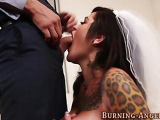 Tattooed Bride Gets Fuck