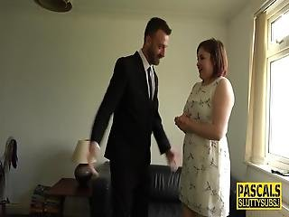Real Chubby Analized Milf Submissive Gets Deep Throated By Pascal