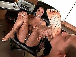 Stocking Babe Nicki Having Foot Sex