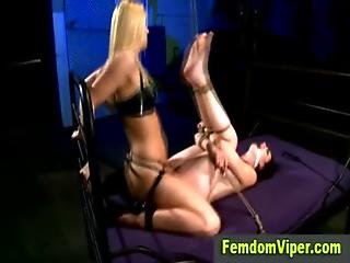 Slave Made To Take Vibrator