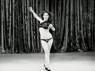 Vintage Striptease Girl 1952