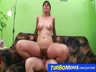 Very Hairy Czech Housewife Karin Fulfills Boys Dreams