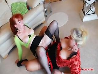 Red Xxx   Horny Milfs Fuck Each Other With Strap Ons And Toys