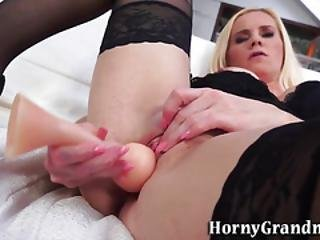 Masturbating Gilf Fucked