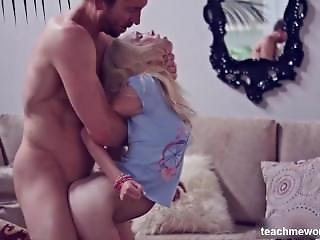 Pussy Fits Likes A Glove - Tiny Blonde Teen Gets Stretched The Fuck Out
