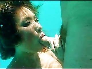 Asian, Blowjob, Pornstar, Underwater