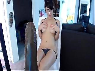 Beauty Teen In Webcam Masturbating With Dildo