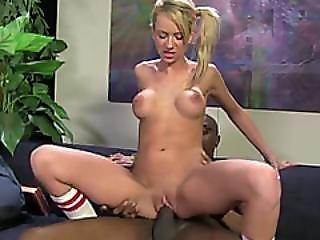 Kaylee Hilton Riding Long Black Cock And Loving It