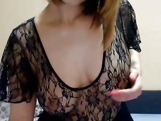 Short Haired Blonde Masturbating