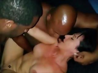 Sexy Milf Having A Trio With Two Black Stallions