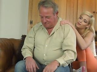 Lucky Old Guy 5 Really Hot Blonde