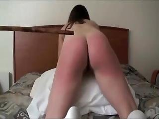 Here Is My Slut Stella She Has A Perfect Ass For A Caning Punishment Every Weekend I Punish Her With The Cane Until She Has A Very Red Sore Ass