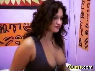 Curly Latina Babe With Huge Tits