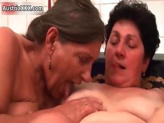 Nasty Brunette Lesbians Get Horny Making