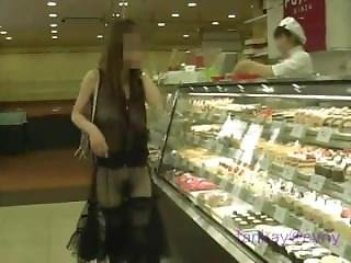 See Through Dress In A Cake Shop
