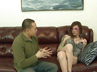 Transsexual Acquires Ball Batter Guzzled