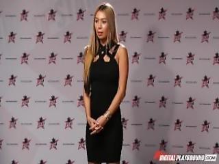 Dp Star 3 Petite Blonde Pornstar Kat Dior Deep Throat Blowjob