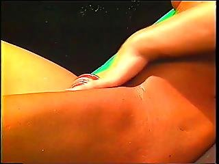 Fitness Freak With Monster Tits Masturbates Outdoors