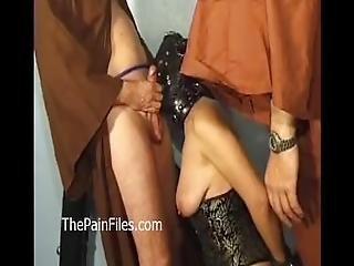 Mature Masochist Whipped In Bondage And Slavesex Of Hardcore Fucked Leather
