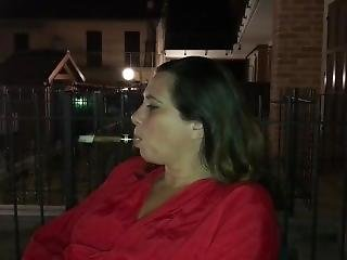 kociak, opiekunka, brunetka, papieros, włoszka, dojrzała, rzeczywistość, palenie