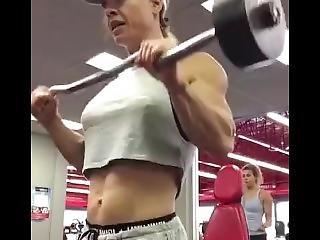 Insane Shredded Female Muscle