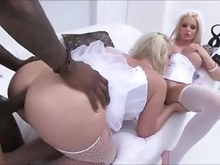 Two Hot Blonde Bimbos Take Bbc