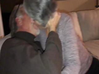 Mature Hot Gilf Wife Kisses Neighbor