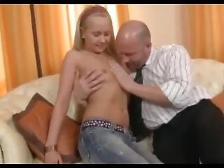 Family Sex After School For Alex From Her Grand Papi Kerr Bear So Happy