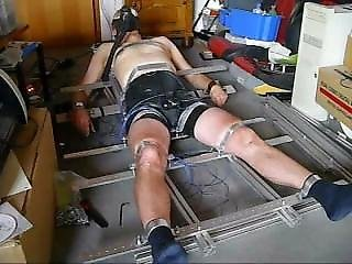 Heavy Metal Bondage Estim At Cock Balls Plug With Pp