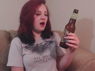 Goofy Milf Beer Burping