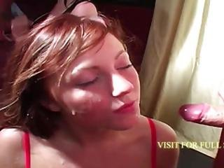 Adorable Amateur Redhead Soaked In Cum