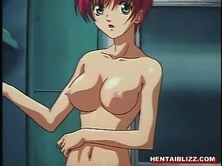 Chained Hentai Gets Dildoed Ass And Wetpussy