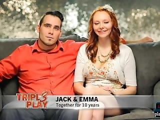 素人, カップル, ハードコア, 結婚した, 3P