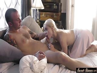 Petite Step Daughter Banged After A Fellatio