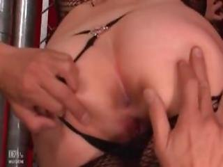Asian Hoe In Pantyhose Pussy Licked And Fingered