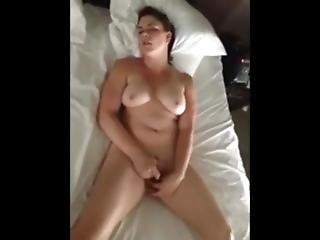 Wife Masturbates To Orgasm