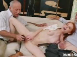 anal, obciąganie, dojrzała, stara, starszy mężczyzna, drobna, ruda, połyk, Nastolatki, Nastolatek Anal