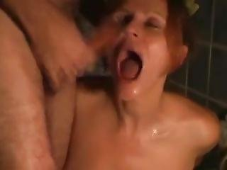 Fucking Girl With Big Tits In The Bathroom