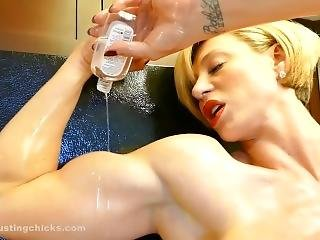 fetish, oiled, alene