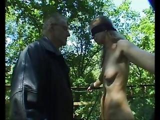 Outdoor Bondage Master Training Slave