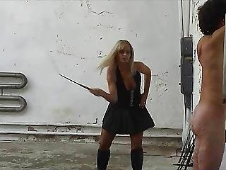 Long Whipping Strokes From Lady Gitta
