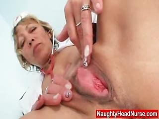 Amateur, Blonde, Clinic, Closeup, Dildo, House, Housewife, Insertion, Kinky, Masturbation, Mature, Milf, Mom, Nurse, Old, Pussy, Sex, Speculum, Spreading, Stocking, Toys, Uniform, Wife