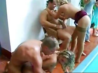Sinfully Party Babes Fucking At Poolside